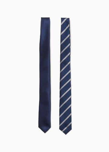 Two-pack ties with striped pattern