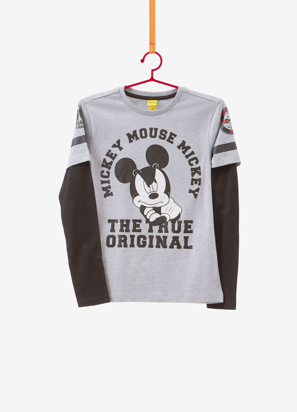 T-shirt mélange stampata Mickey Mouse
