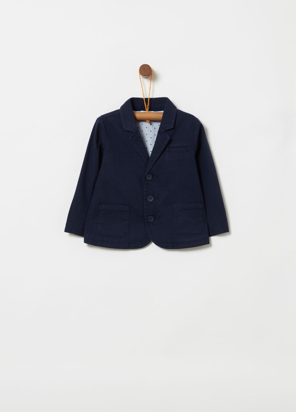 Blazer with pockets and split on the back