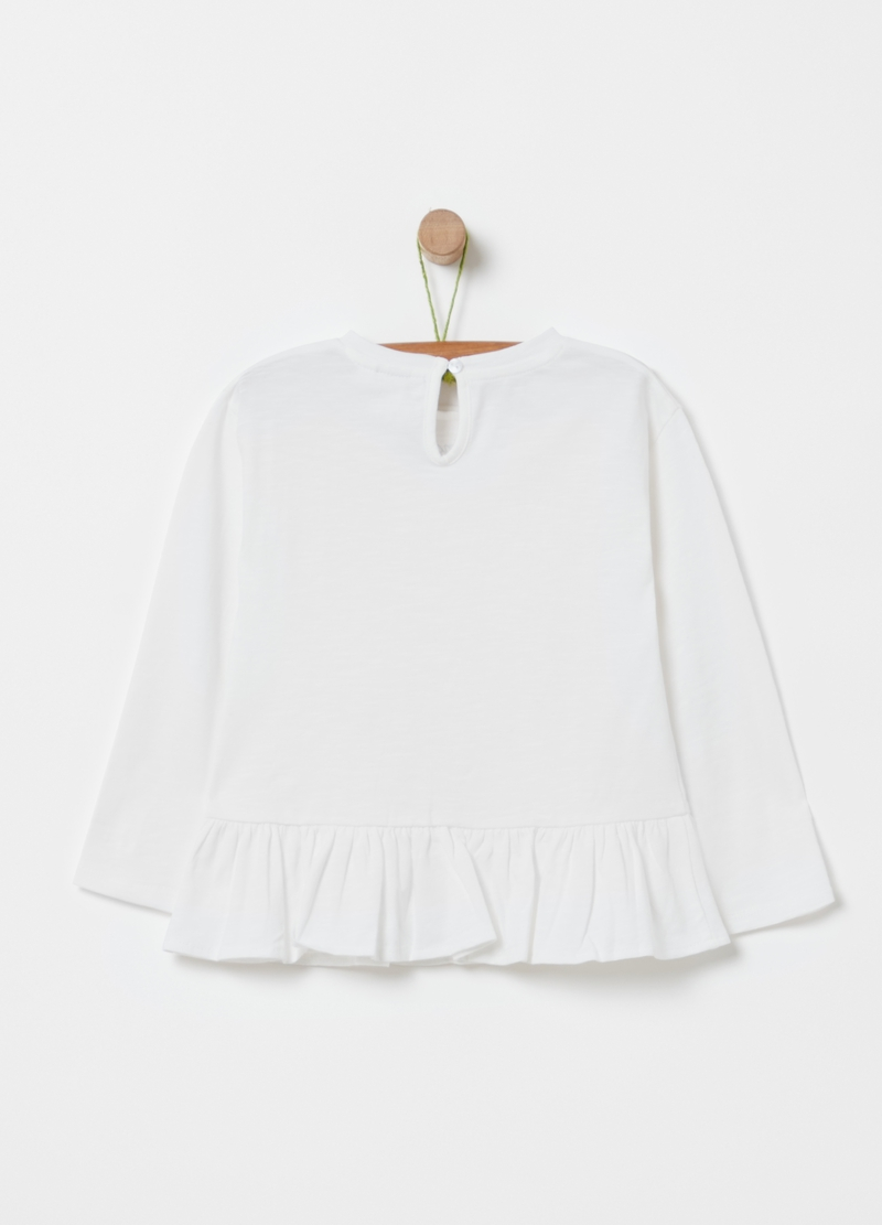 T-shirt in cotone bio floreale image number null