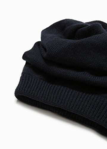 Beanie cap with folded top section