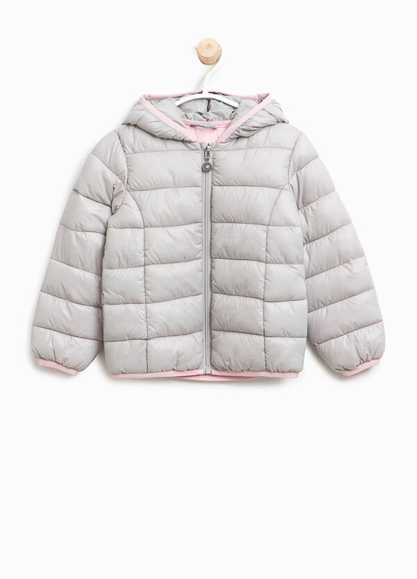 Down jacket with contrasting trim