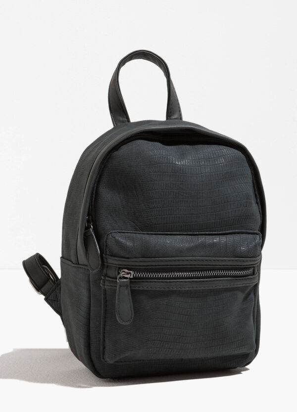 Snakeskin-effect backpack with zip | OVS