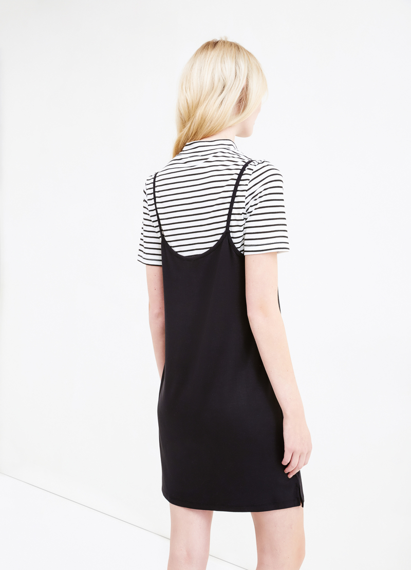 Viscose blend dress with T-shirt image number null