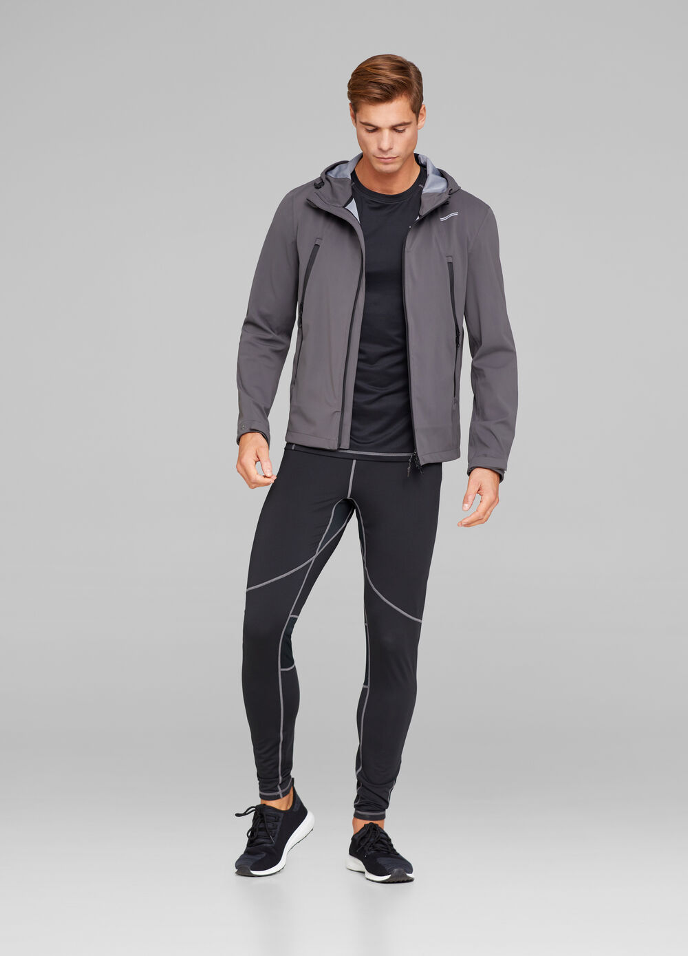Solid colour gym jacket