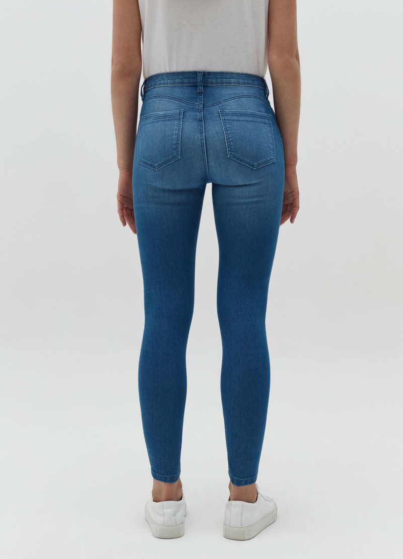 Acid wash push-up -effect jeans image number null