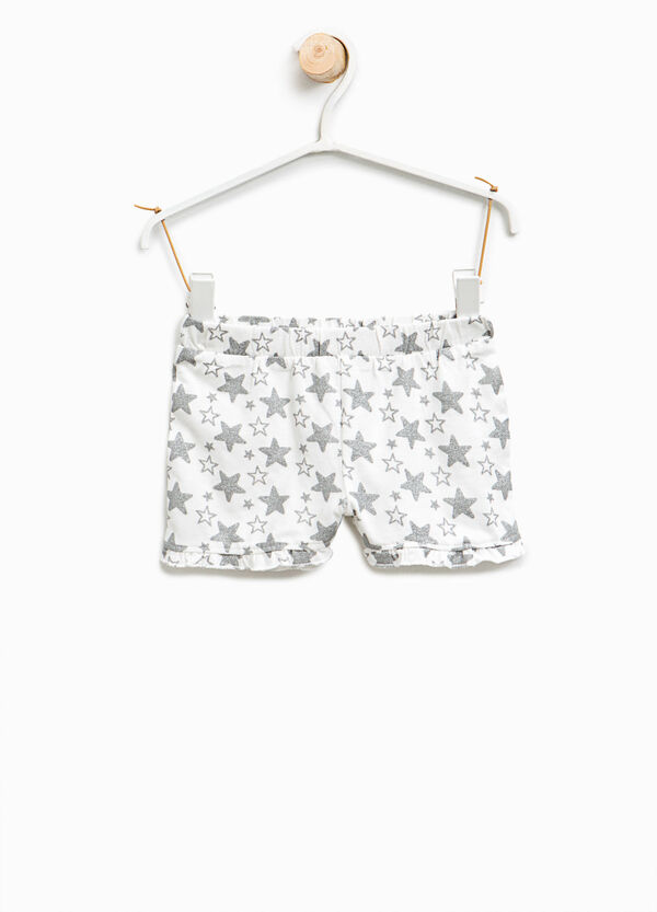 Glitter star patterned shorts