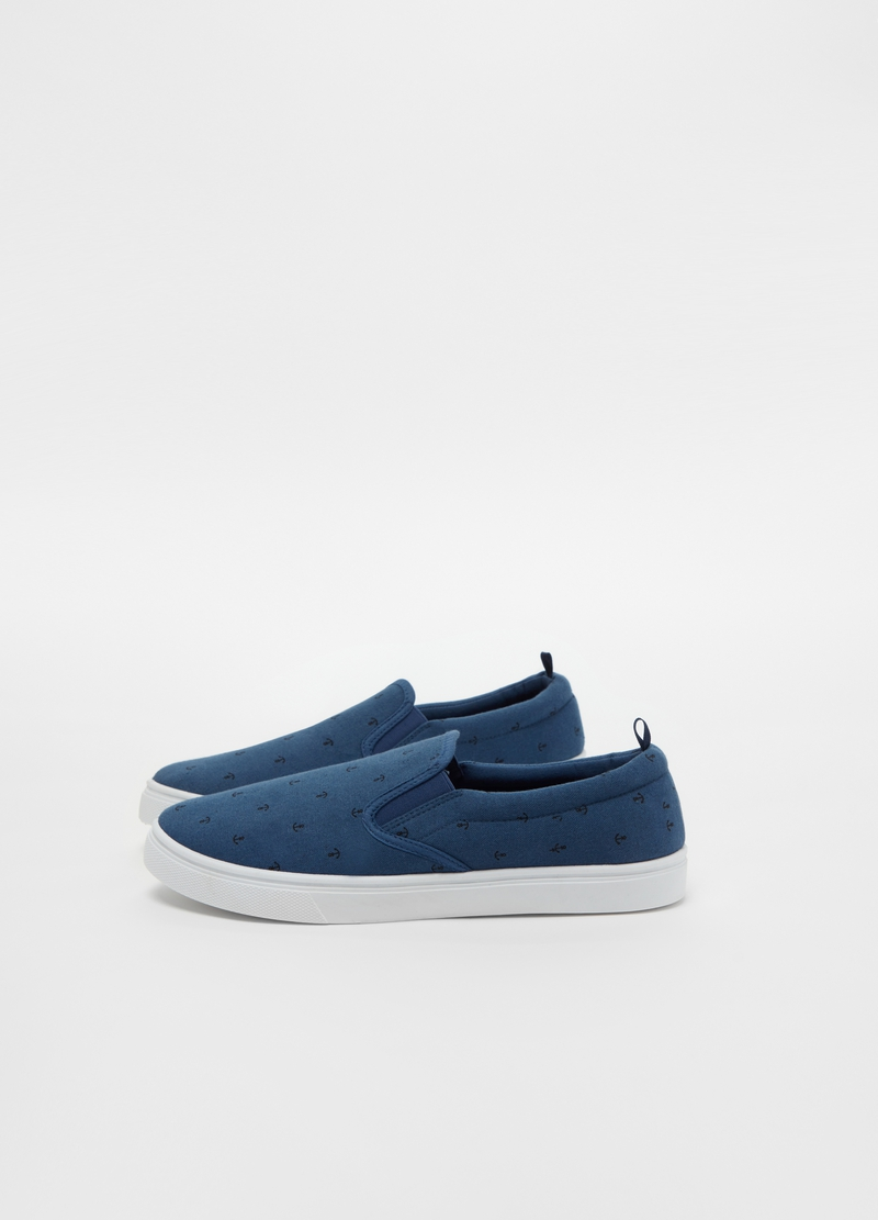 Slip on in cotone fantasia ancore image number null
