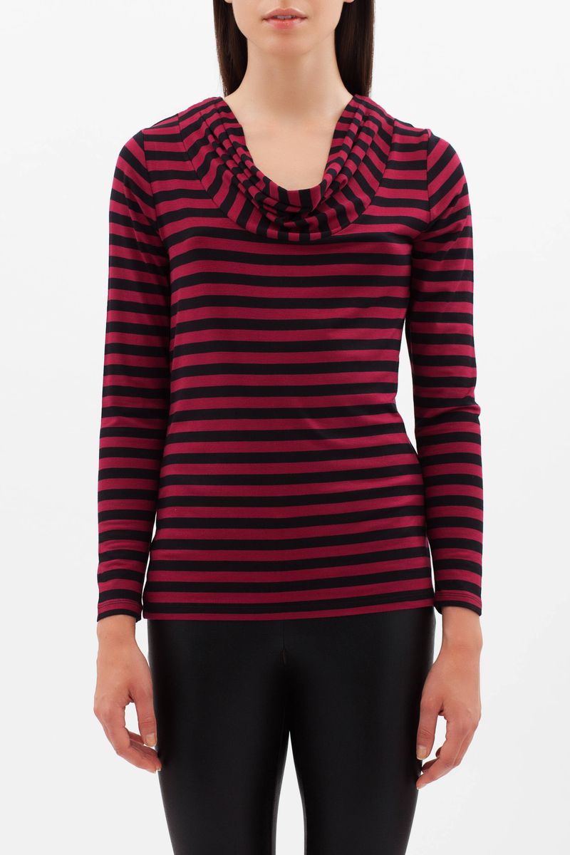 Smart Basic striped stretch T-shirt image number null