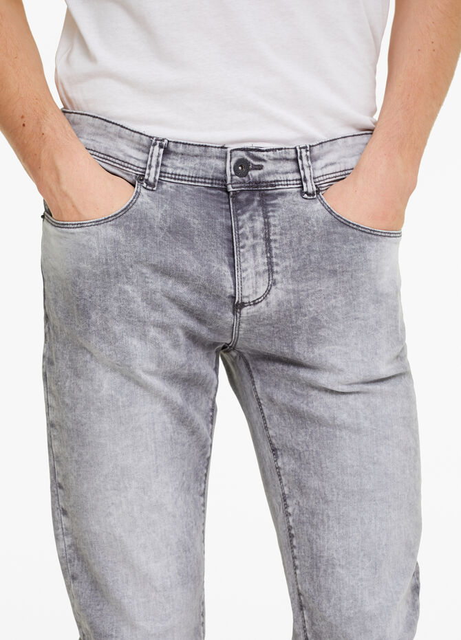Faded-effect skinny-fit stretch jeans