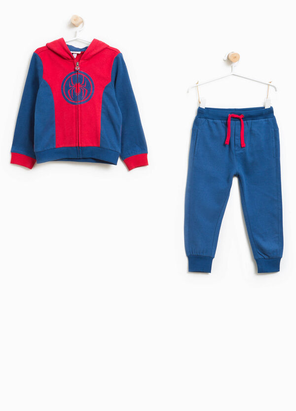 100% cotton tracksuit with Spiderman print