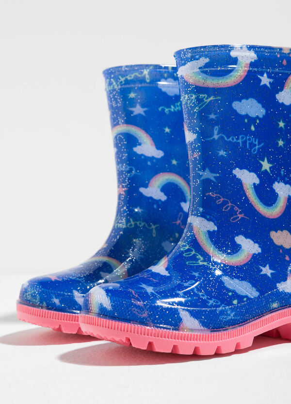 Rainbow patterned rain boots | OVS