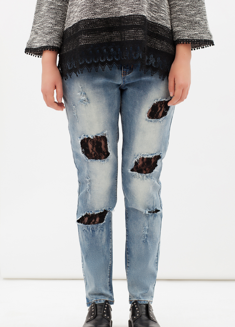 Jeans strappati Curvyglam image number null