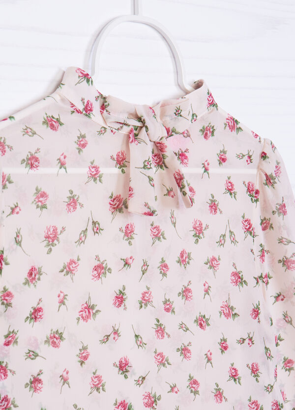 Floral pattern blouse with bow | OVS