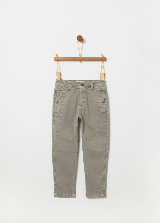 Joggers in cotone stretch con tasche