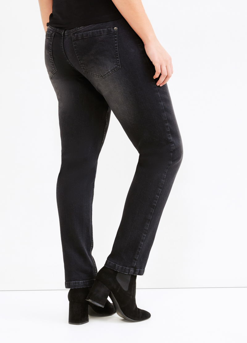 Jeans stretch effetto used Curvy image number null