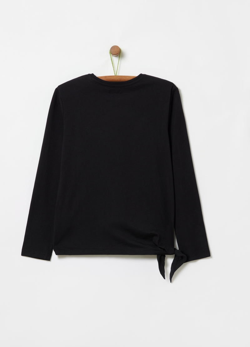 T-shirt with lace pocket image number null