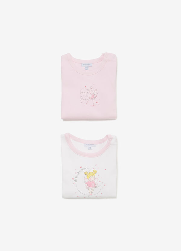 Two-pack cotton ballerina bodysuits