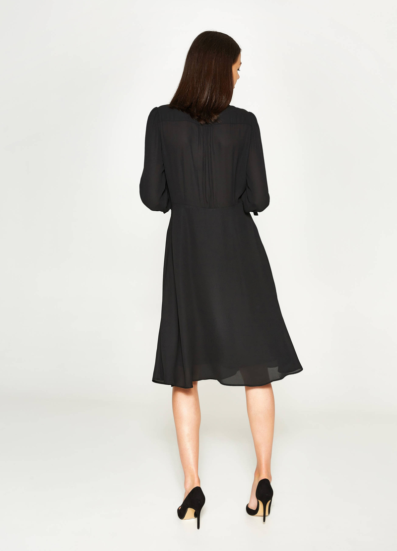 Longuette dress with lace image number null