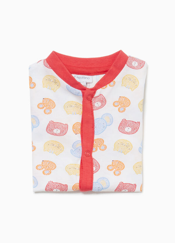 Cotton sleepsuit with animals