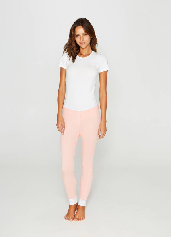 100% cotton pyjama trousers with buttons | OVS