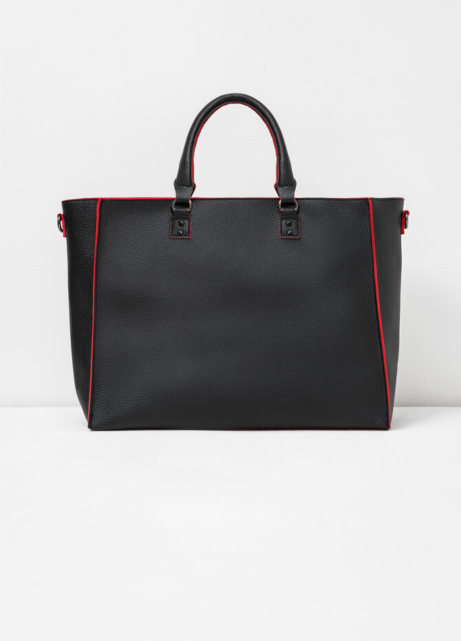 Handbag with contrasting edges