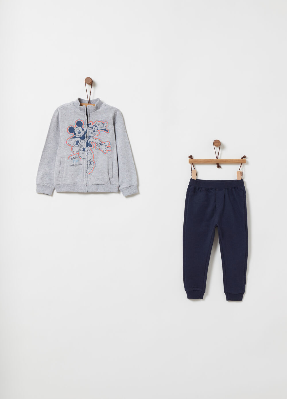 Jogging set in misto cotone Topolino