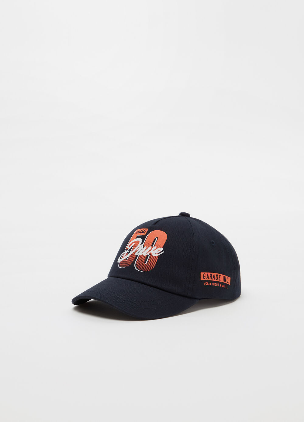 Mélange baseball cap with print