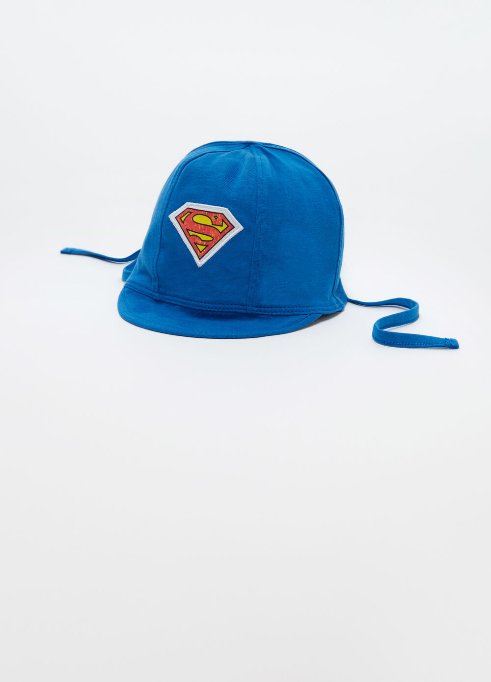Baseball cap with visor and Superman patch