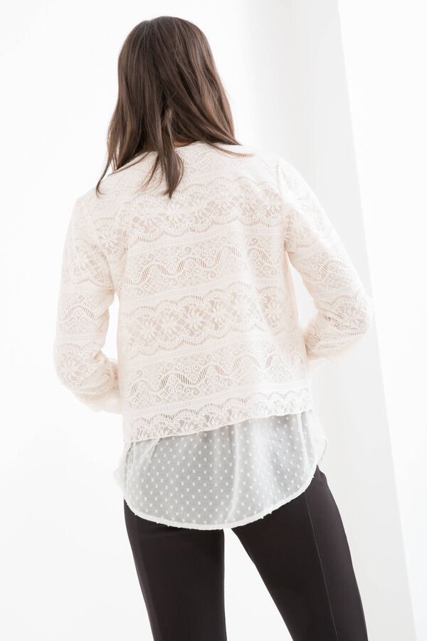Solid colour openwork bolero | OVS