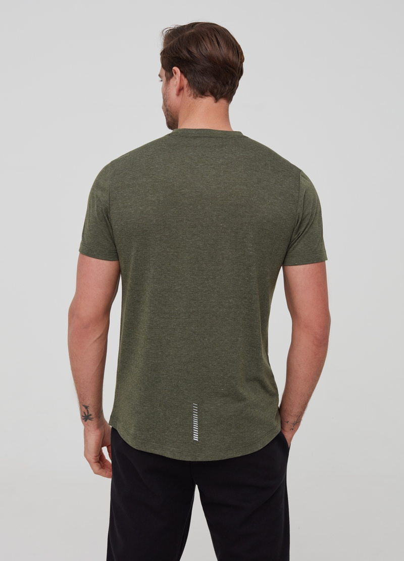 Mélange T-shirt with striped trim image number null