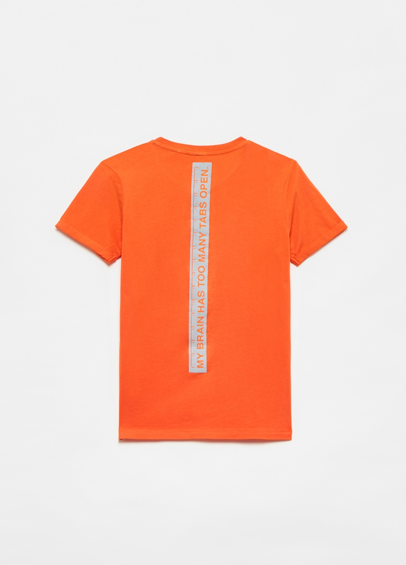 Cotton T-shirt with lettering print image number null