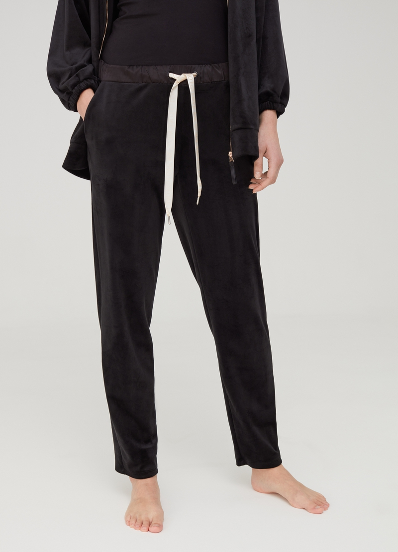 Stretch pyjama trousers with drawstring image number null