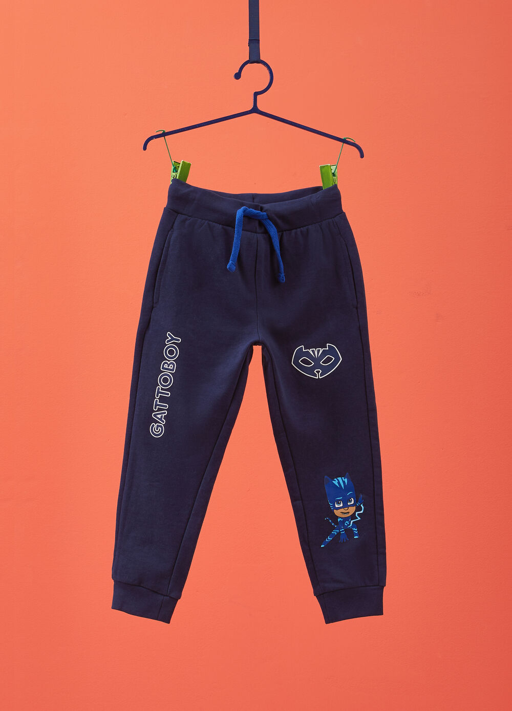 Trousers in 100% cotton with PJ Masks print