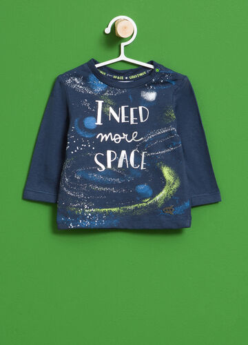 100% cotton T-shirt with maxi space print