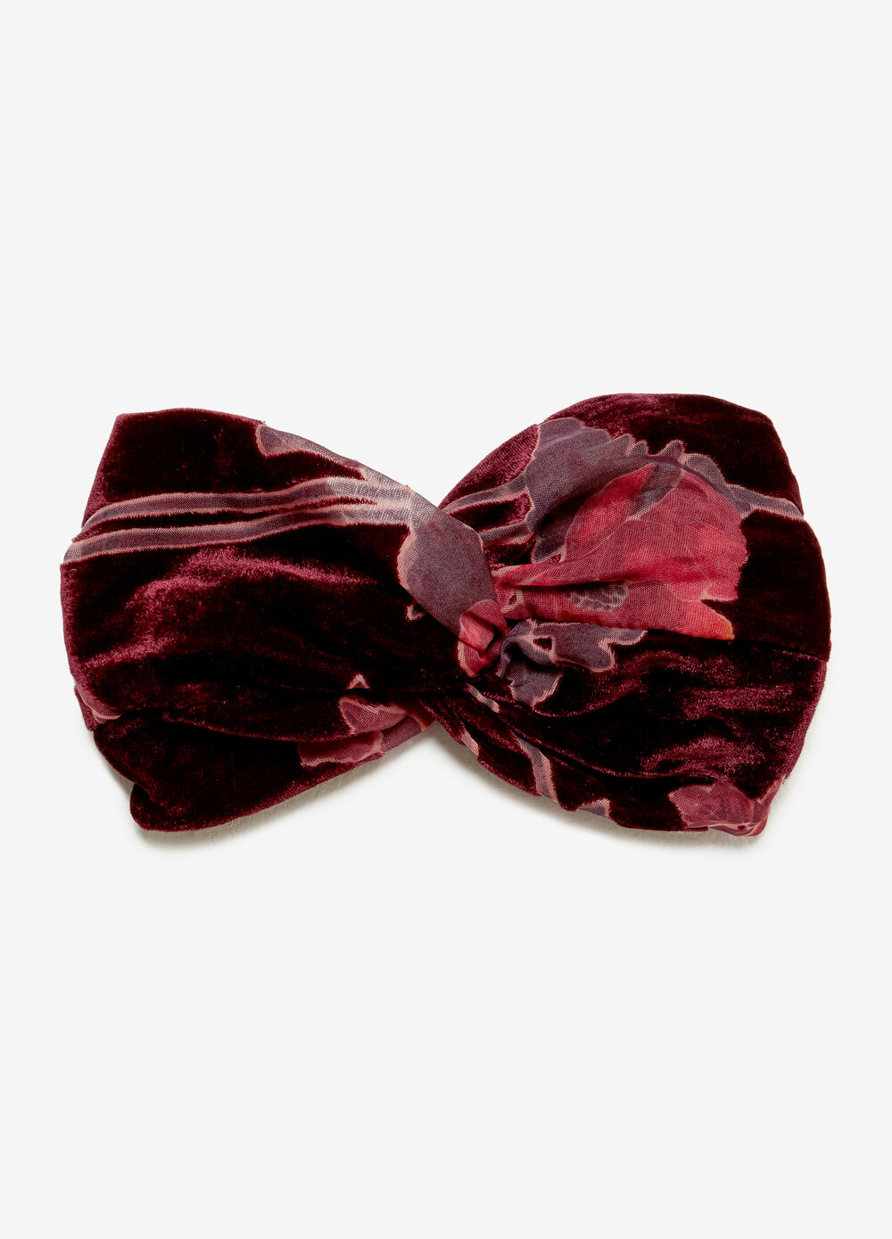 Velvet-effect hairband
