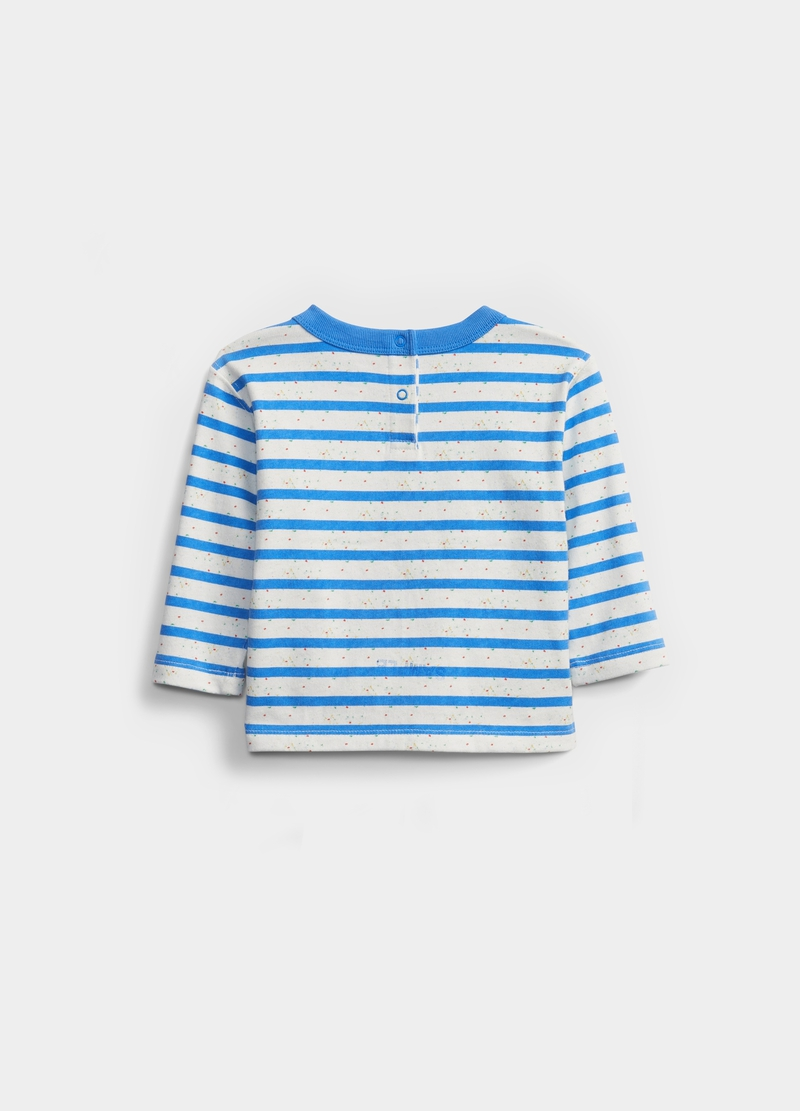 GAP striped T-shirt with long sleeves image number null