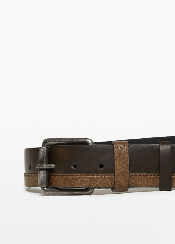 Belt with textured inserts