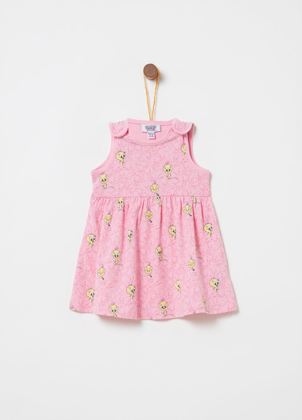 Sleeveless BCI dress with Tweetie Pie pattern
