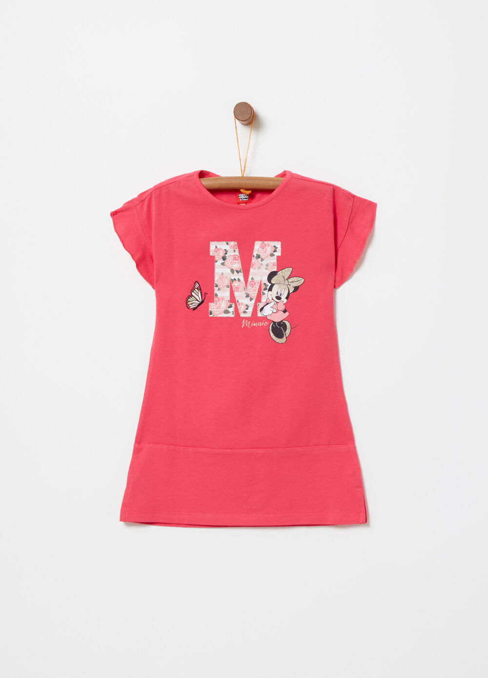Jersey dress with Disney Minnie Mouse embroidery