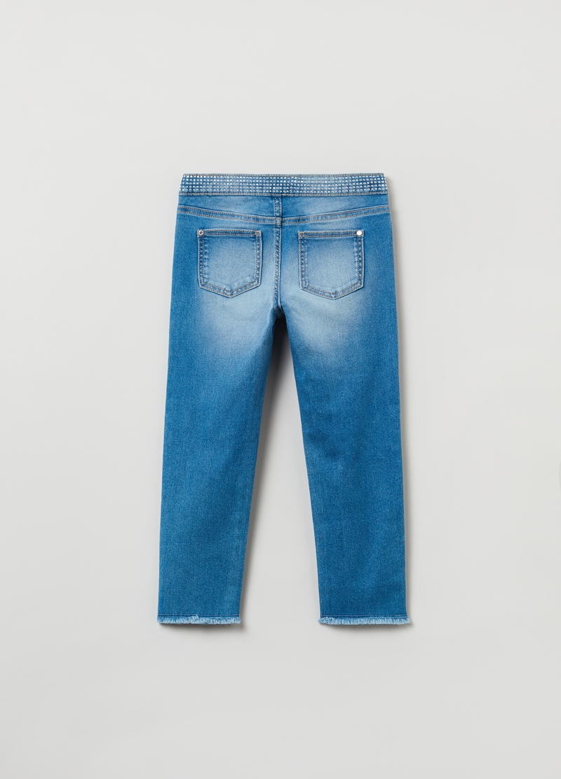 Jeans skinny fit con strass image number null