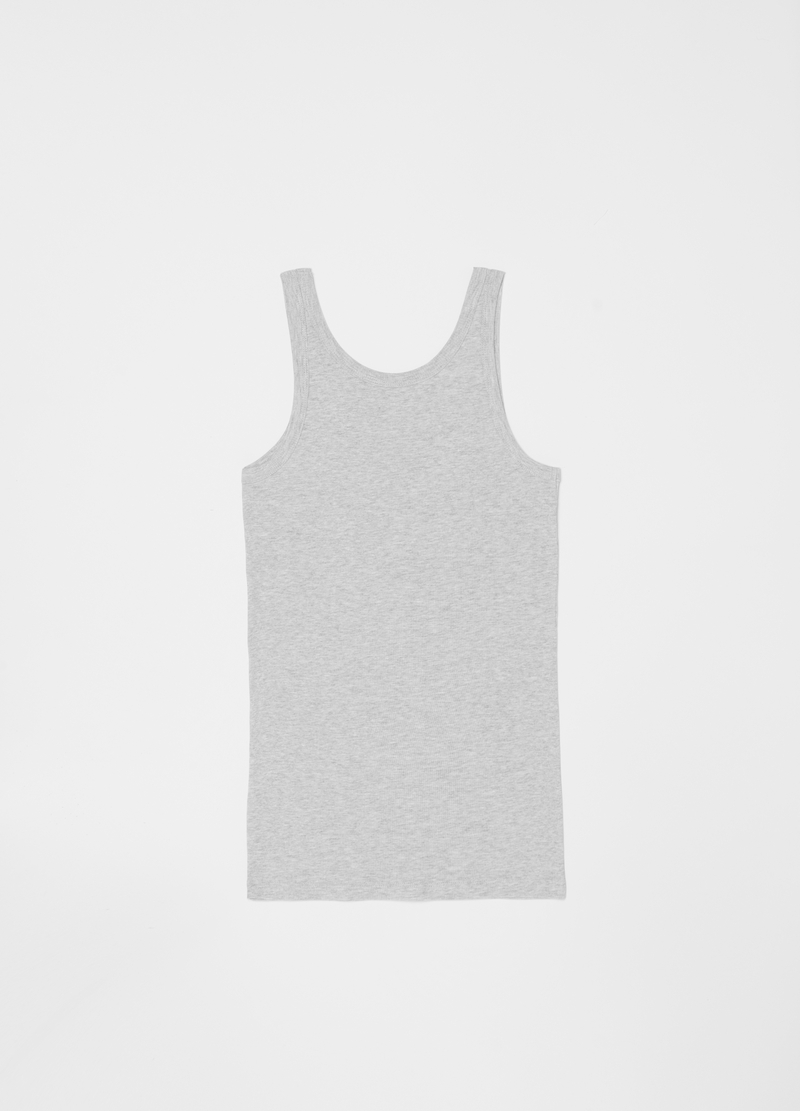 Organic cotton and viscose racerback vest image number null