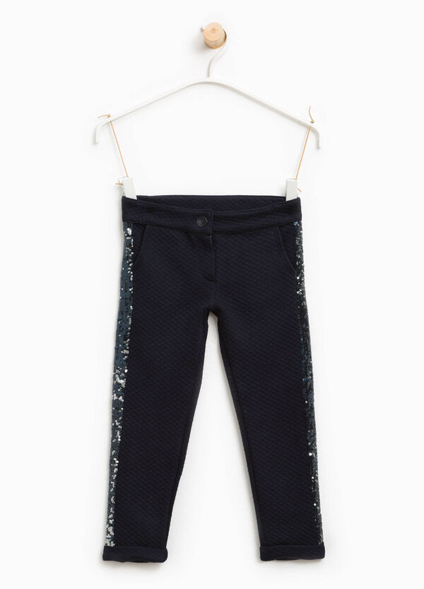Cotton trousers with sequins | OVS
