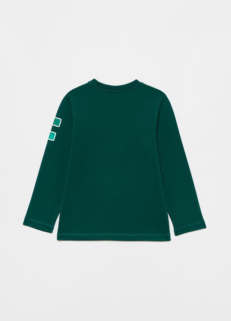 T-shirt with lettering print and long sleeves image number null