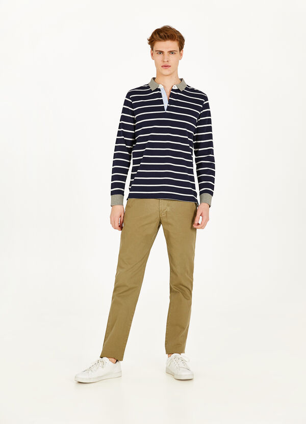 100% cotton regular fit chino trousers