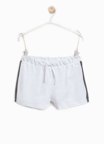 Shorts with striped side bands