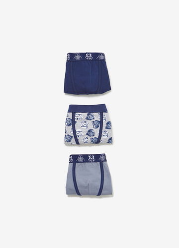 Three-pack boxer shorts with Star Wars pattern
