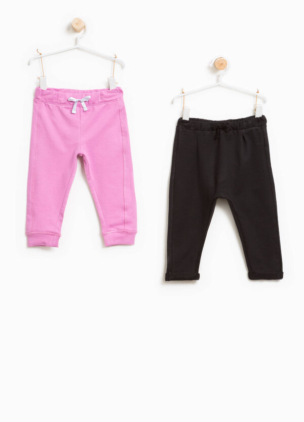 Two-pack stretch cotton trousers | OVS