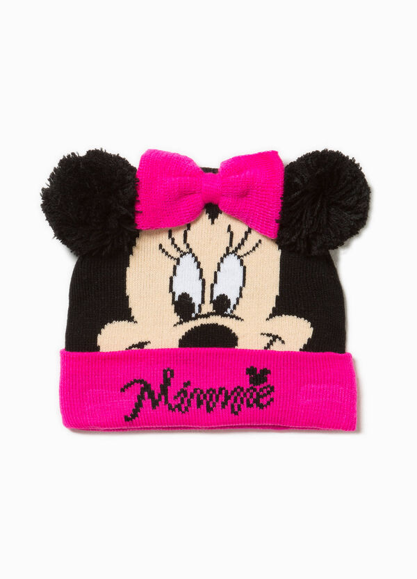 Beanie cap with Minnie Mouse print