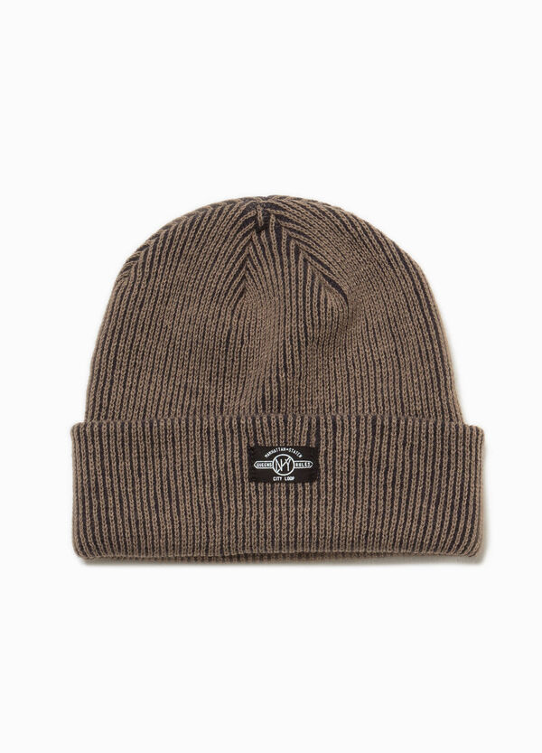 Cappello a cuffia con patch